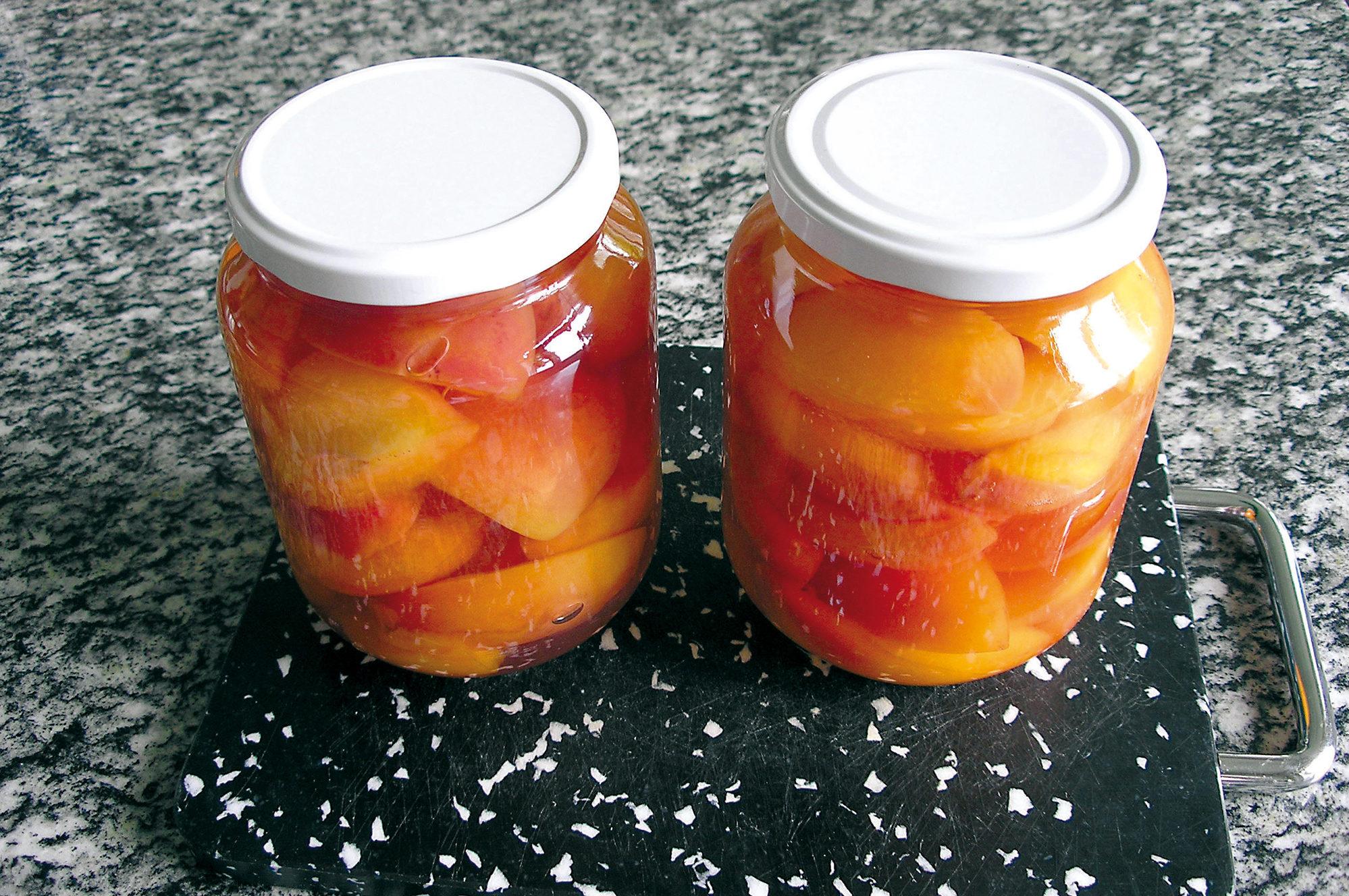 Bild: Aprikosen, eingemacht